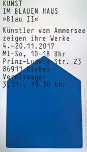 Ausstellung Blau II Einladung